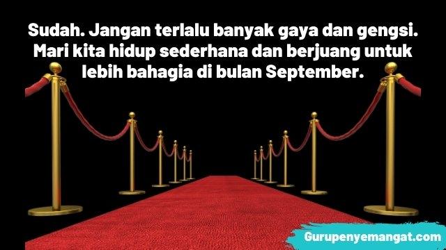 Caption Motivasi Bulan September