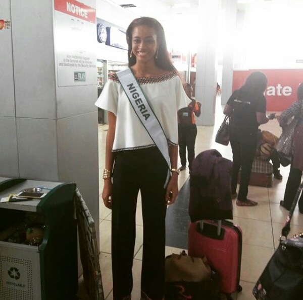Photos: MBGN 2017 Ugochi Ihezue leaves for Miss World pageant in China