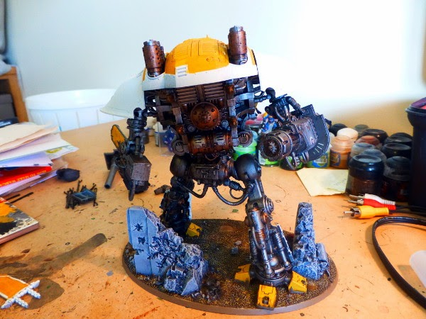 40k WIP ImpKnight plating on 3