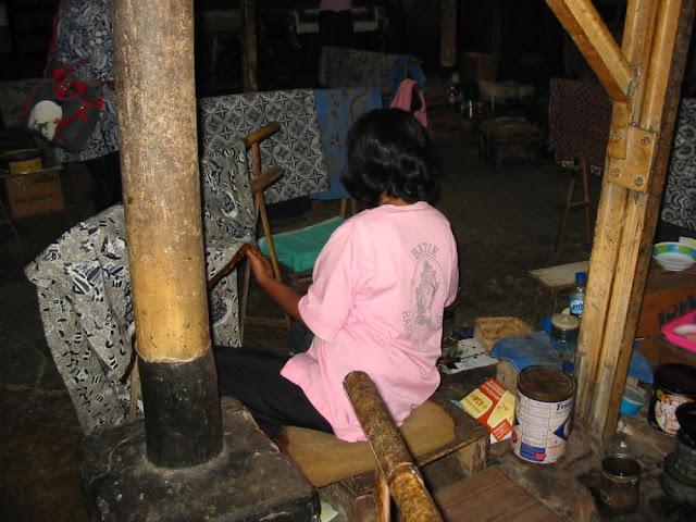 Batik in Yogyakarta, Indonesien