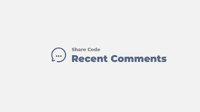 Share code widget recent comments