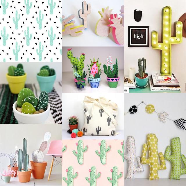 Moodbard Hello cactus, idées diy et deco