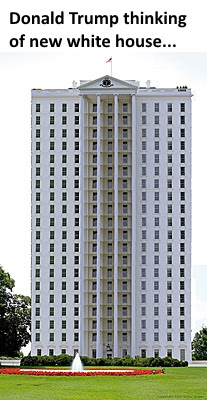 High white building