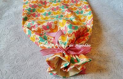 Saquinho de tecido para maternidade com estampa de elefantinhos