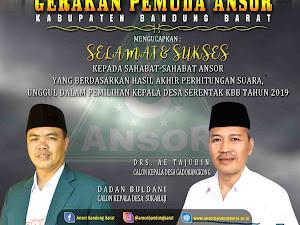 Dua Kader Ansor Bandung Barat Unggul dalam Pilkades Serentak 2019