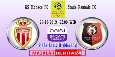Prediksi AS Monaco vs Rennes — 20 Oktober 2019