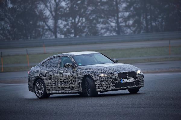 BMW i4 sedan elétrico tem vídeo de teste dinâmico revelado