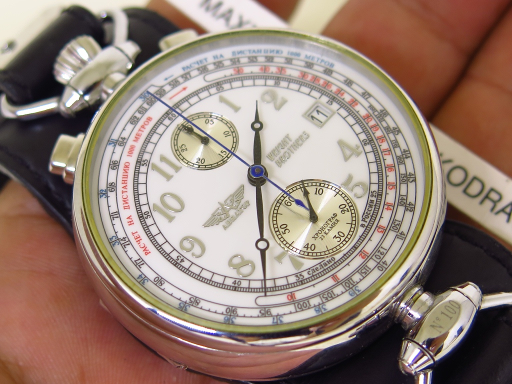 POLJOT AVIATOR WRIGHT BROTHERS CHRONOGRAPH BULLHEAD - MANUAL WINDING P3133