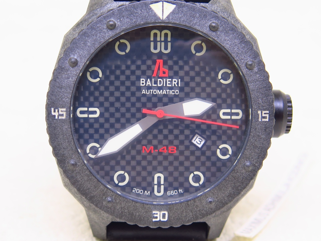BALDIERI 200m AUTOMATICO M48 CARBON CASE BEZEL LIMITED EDITION