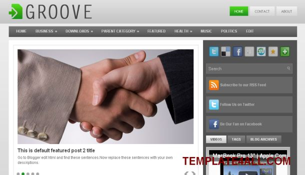 Business Magazine Gray Blogger Template