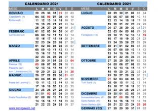 calendario in PDF
