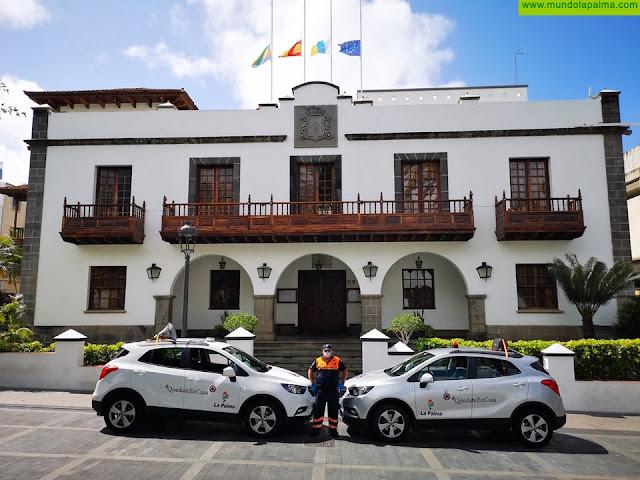 El Ayuntamiento de Los Llanos de Aridane y Protección Civil Axer agradecen a CICAR el préstamo de dos vehículos para servicios esenciales durante el Covid-19
