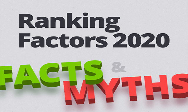 Ranking Factors 2020: Facts and Myths #infographic