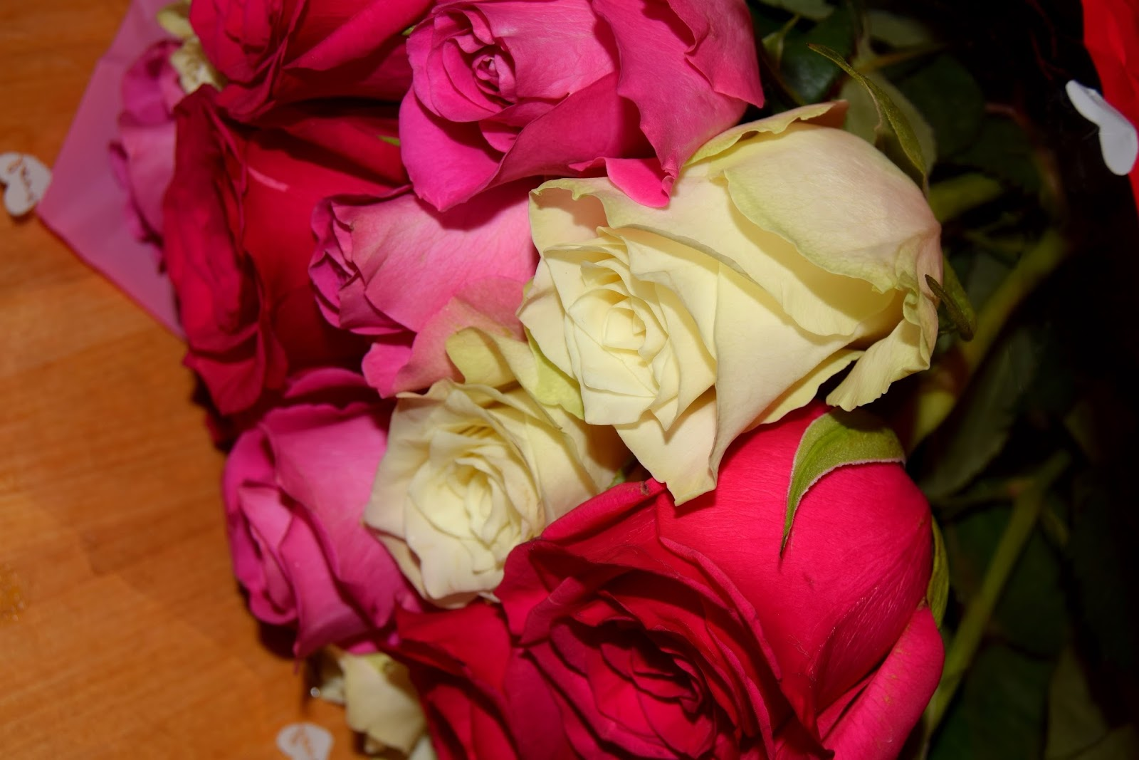 Red, Pink And Yellow Roses