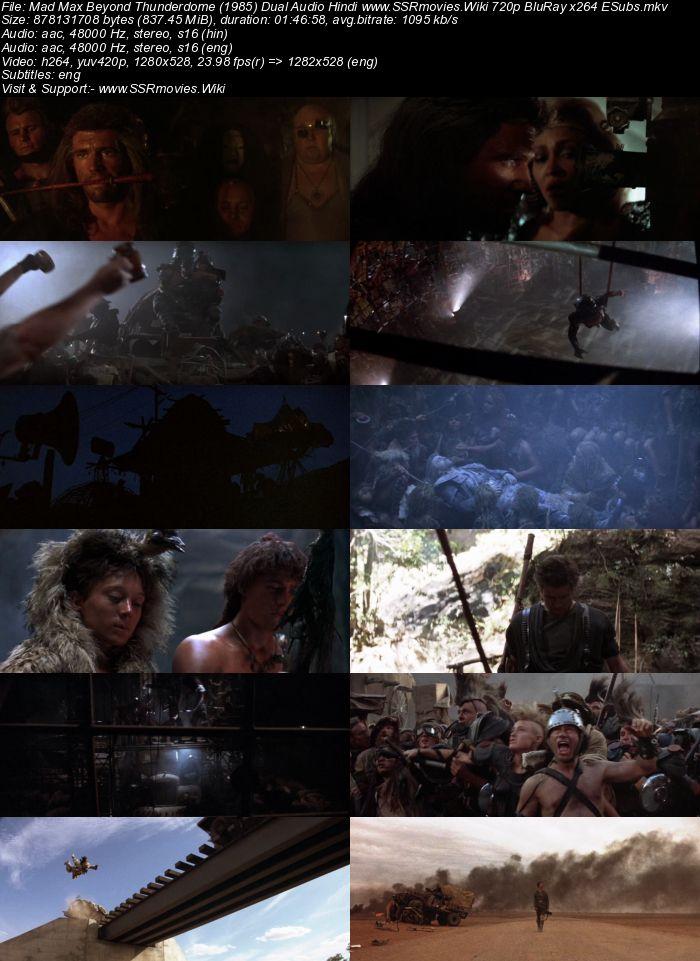Mad Max: Beyond Thunderdome (1985) Dual Audio Hindi 480p BluRay x264 300MB