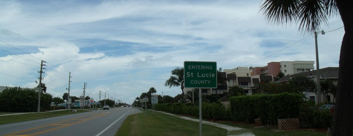 Entrando en Saint Lucie County en la A1A