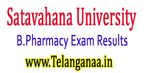 Satavahana University B.Pharmacy 2-2 / 3-2 Exam Results