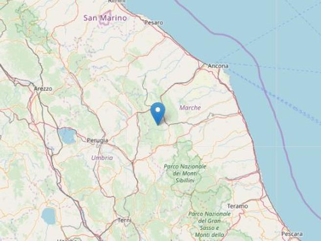 Terremoto nelle Marche: scossa di magnitudo 3.3