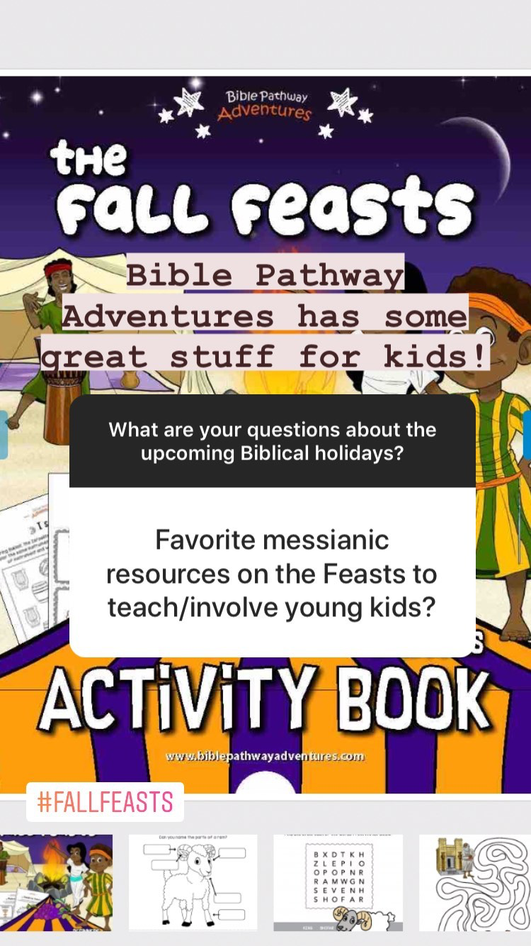 Questions and Answers about the Biblical Holidays of Tabernacles, Yom Teruah, and Yom Kippur - resources for kids | Land of Honey