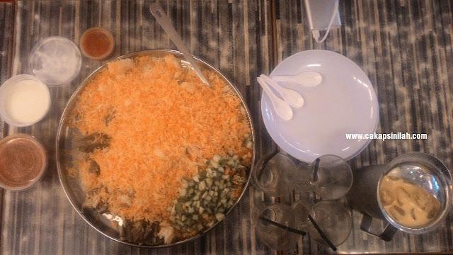 Nasi Arab Damsyik, Menu Tengahari