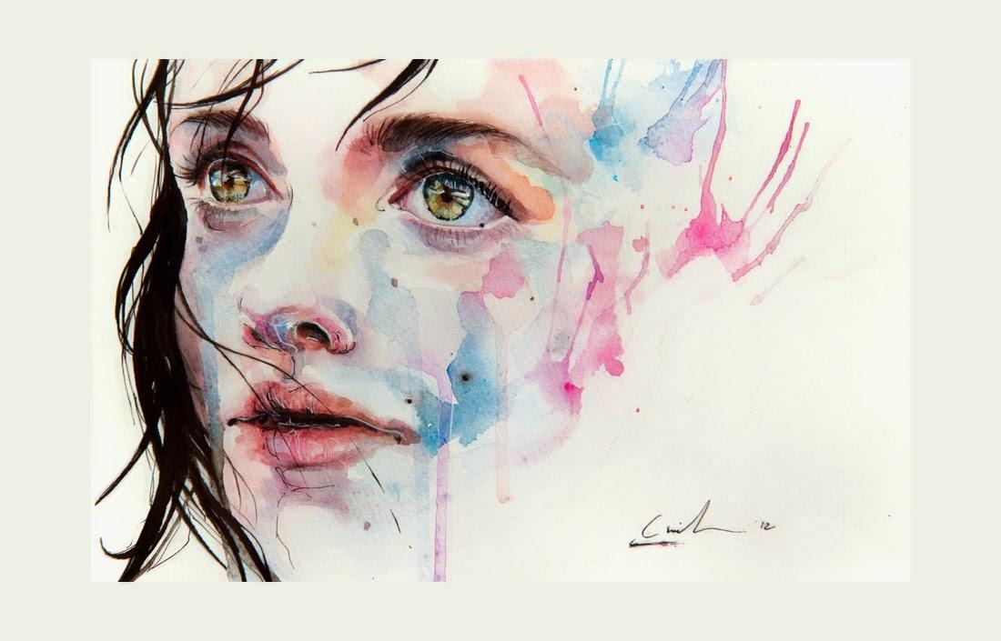 Apenas Um em Mil - Agnes-Cécile e suas principais pinturas ~ aquarela
