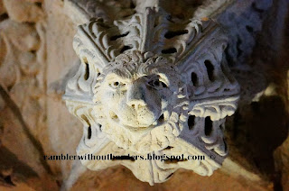 Pendant boss in the shape of a lion head, Rosslyn Chapel
