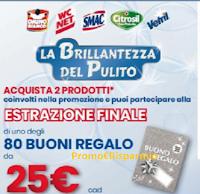 Logo Eroi di casa concorso ''La brillantezza del pulito'' : vinci buoni spesa da 25€