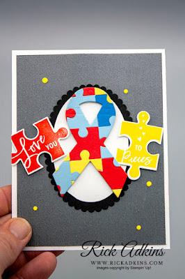 Autism Awareness, Love You To Pieces Stamp Set, Rick Adkins, Stampin' Up!