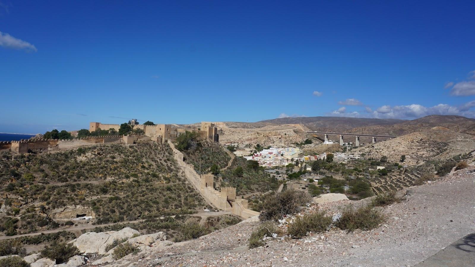Almeria, Hiszpania, południowa Hiszpania, Alcazaba, ruiny zamku