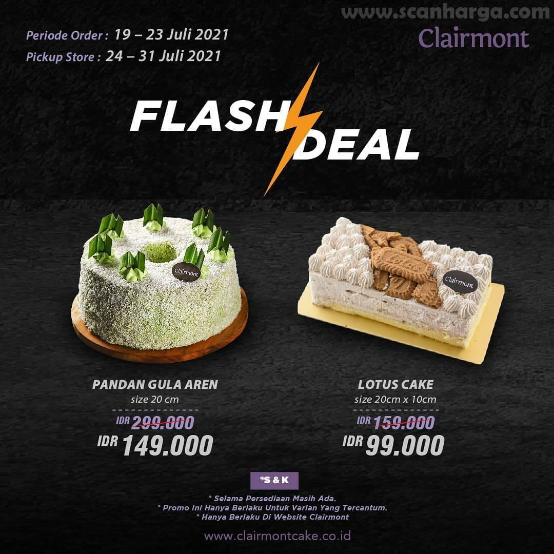Clairmont Promo Flash Deal - Harga Spesial Pandan Gula Aren & Lotus Cake mulai 99K