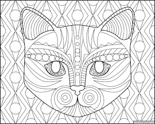 Cat coloring page- available in jpg and transparent png formats