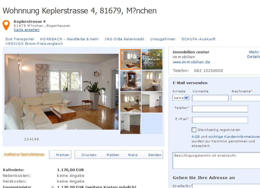 Mietwohnung M Ef Bf Bdnchen