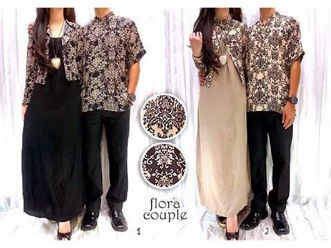 Baju Fashion Pasangan Muslim Trendy GA TA Set Couple Batik April
