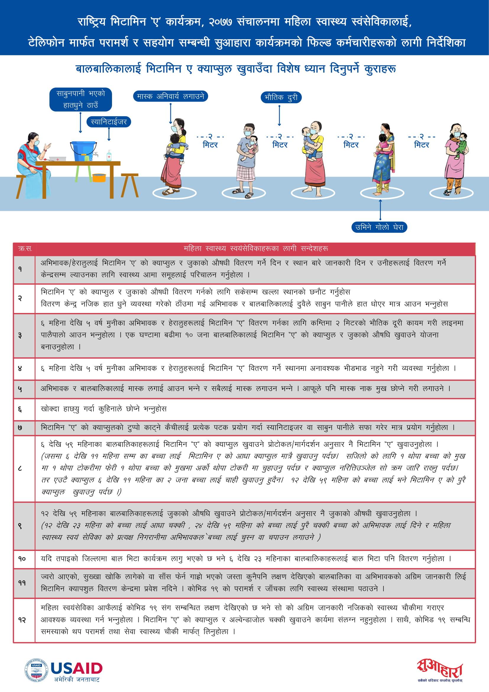 COVID and Vitamin A program Nepal