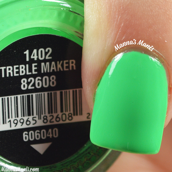 China Glaze Electric Nights Treble Maker swatches