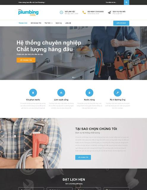 Template blogspot giới thiệu Doanh nghiệp - Công ty - Dịch vụ