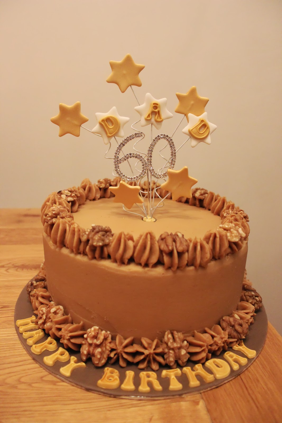 Coffee Amp Walnut 60th Birthday Cake The Cake Escape