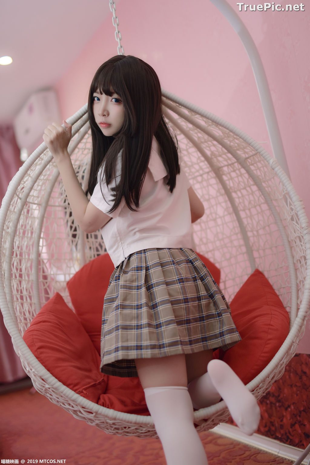 Image [MTCos] 喵糖映画 Vol.034 – Chinese Cute Model - Schoolgirl Uniform - TruePic.net - Picture-1