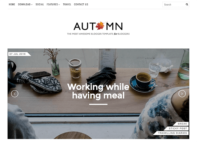 Autumn Blogger Template