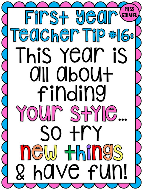Beginning of the year advice for brand new first year teachers!