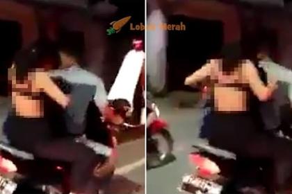 """""""B*doh Piang...""""-Ikut Geng Mat Motor Kejut Sahur, Gadis Tayang BR4 Sepanjang Jalan"""