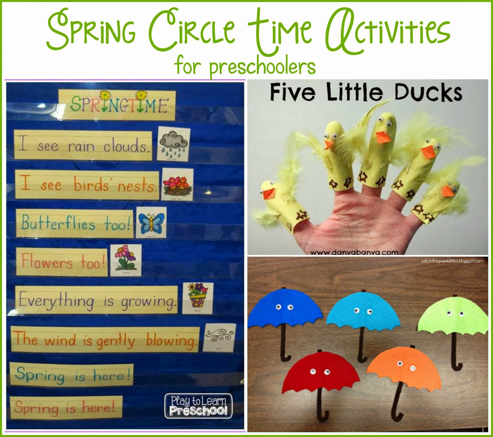 Play To Learn Preschool Spring Circle Time