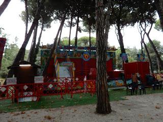 Viareggioの公園のミニアトラクション
