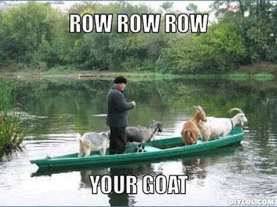 Row row row your goat.