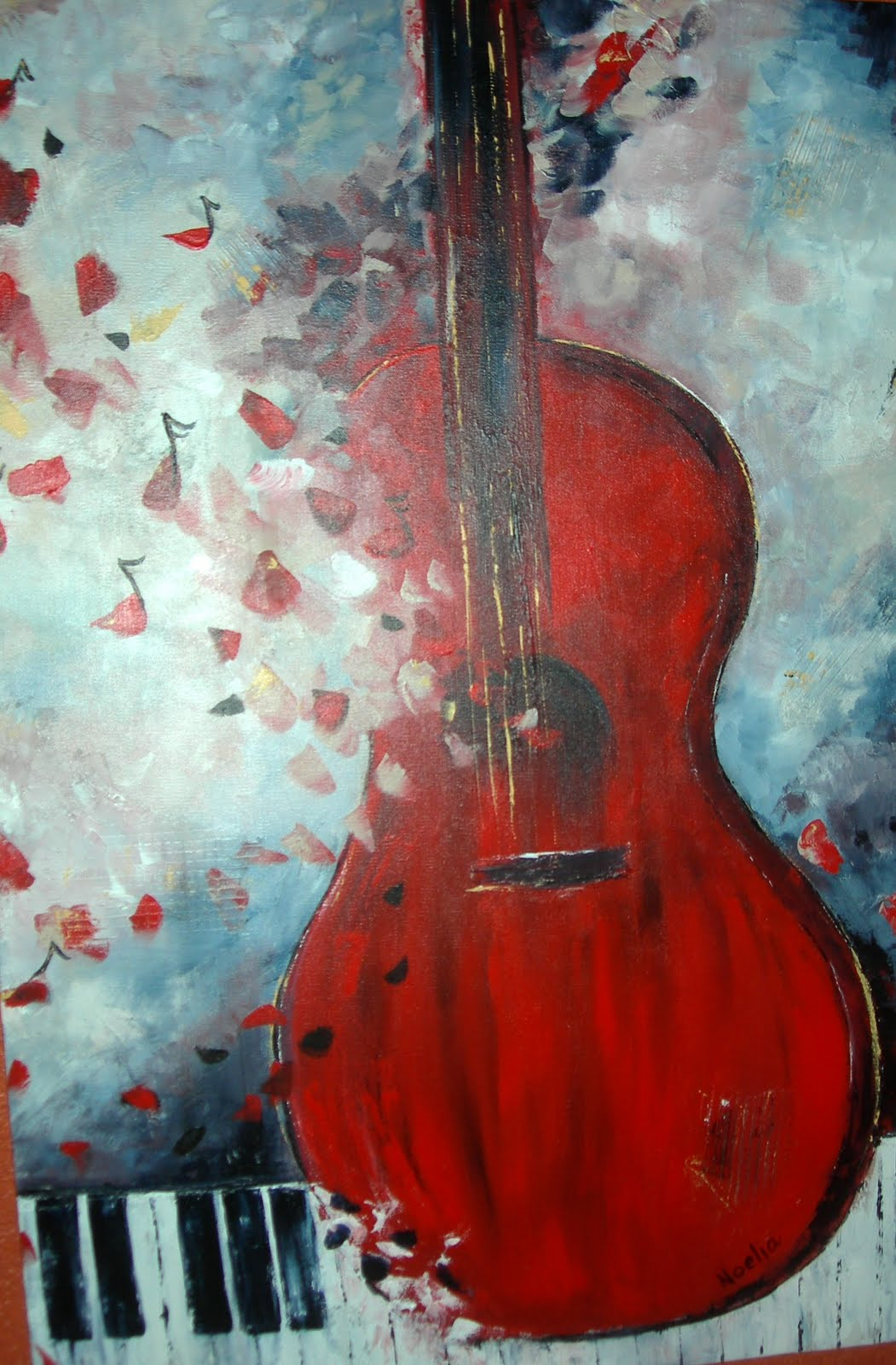 pinturas paintings music sobre musica arte porfolio noelia ole