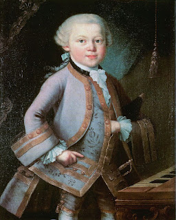 Mozart painted in 1763