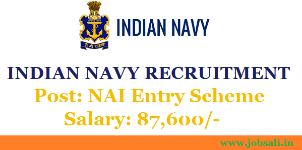 Indian Navy Recruitment 2017 – NAI Permanent Commission, Indian Navy Career