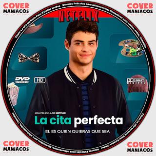 The Perfect Date 2019 - LA CITA PERFECTA [ COVER DVD NETFLIX ]GALLETA LABEL