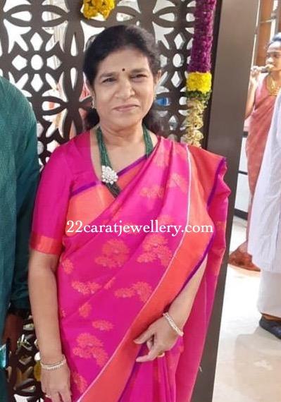 Surekha Konidela in Emerald Beads Set