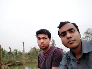 Sajal Mondal and bishnu golder at village